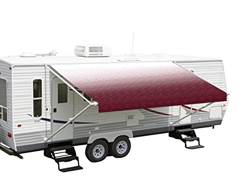 RV Vinyl Awning Replacement Fabric - Burgundy Fade 17'